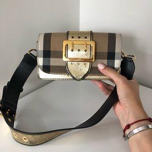 Burberry small buckle shoulder bag